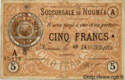 Cinq Francs NOUVELLE CALÉDONIE  1875 P.02 TB+