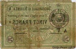 20 Francs NOUVELLE CALÉDONIE Nouméa 1874 P.03 AB