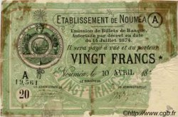 Vingt Francs NOUVELLE CALÉDONIE  1875 P.07 AB