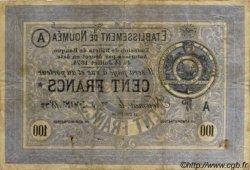 Cent Francs NOUVELLE CALÉDONIE  1875 P.08 pr.TTB