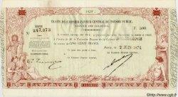 500 Francs NOUVELLE CALÉDONIE  1874 P.- SPL