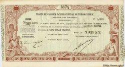5000 Francs NOUVELLE CALÉDONIE  1874 P.- SPL