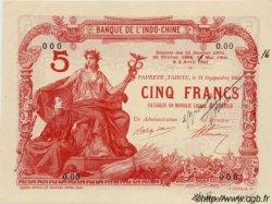 5 Francs TAHITI  1904 P.01a var SPL