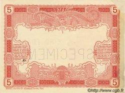 5 Francs TAHITI  1905 P.01a vars SPL