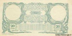 20 francs vert au Neptune TAHITI  1905 P.02