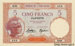 5 Francs TAHITI  1936 P.11c SUP