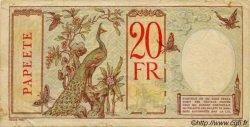 20 Francs au paon TAHITI  1932 P.12b TB