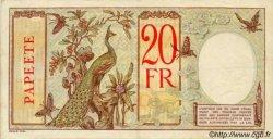 20 Francs TAHITI  1932 P.12b TTB