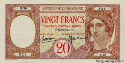 20 Francs TAHITI  1936 P.12c TTB+