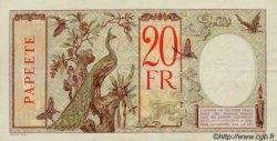 20 Francs au paon TAHITI  1936 P.12c TTB+