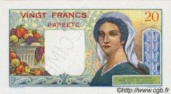 20 Francs TAHITI  1951 P.21as pr.NEUF