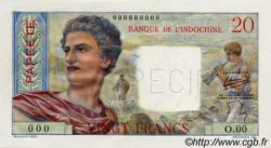 20 Francs TAHITI  1954 P.21bs NEUF
