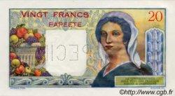 20 Francs TAHITI  1954 P.21b NEUF