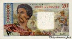20 Francs TAHITI  1954 P.21bs SUP