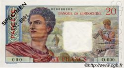 20 Francs TAHITI  1960 P.21cs NEUF