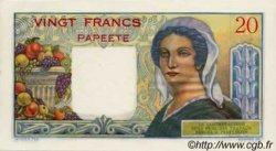 20 Francs TAHITI  1960 P.21c