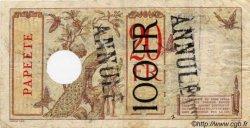 100 Francs surchargé sur 20 francs au paon TAHITI  1936 P.16 TB