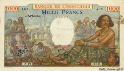 1000 Francs type 1938 TAHITI  1954 P.15b TB+