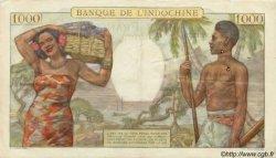 1000 Francs type 1938 TAHITI  1954 P.15b TTB+