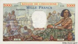 1000 Francs type 1938 TAHITI  1954 P.15b pr.SUP