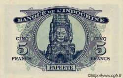 5 Francs impression australienne 1944 TAHITI  1944 P.19s NEUF