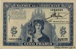5 Francs TAHITI  1944 P.19a SUP