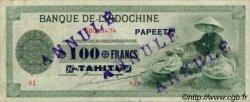 100 Francs impression américaine 1941 TAHITI  1943 P.17b TTB