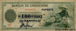 100 Francs impression américaine 1941 TAHITI  1943 P.17b TB