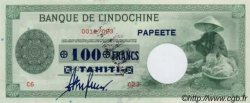 100 Francs impression américaine 1941 TAHITI  1943 P.17b pr.NEUF