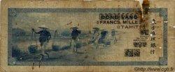 1000 Francs impression américaine 1941, premier type TAHITI  1943 P.18b B+