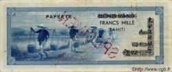 1000 Francs impression américaine 1941, deuxième type TAHITI  1954 P.22s TTB+