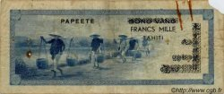1000 Francs TAHITI  1954 P.22 B