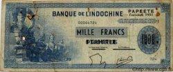 1000 Francs impression américaine 1941, deuxième type TAHITI  1954 P.22 pr.TB