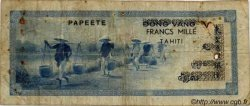 1000 Francs TAHITI  1954 P.22 pr.TB