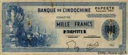 1000 Francs impression américaine 1941, deuxième type TAHITI  1954 P.22 TB+