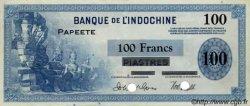 100 Francs TAHITI  1954 P. -s SUP