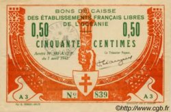 50 CENTIMES TAHITI  1942 P.10 TTB+
