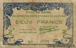 2 Francs TAHITI  1943 P.12a TB