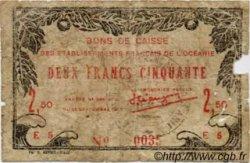 2,50 Francs TAHITI  1943 P.13a AB