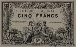 5 Francs TAHITI  1880 P. -s NEUF
