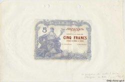 5 Francs avec décrets DJIBOUTI  1905 P. - SPL