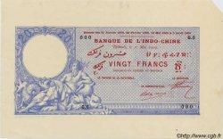 20 Francs avec décrets DJIBOUTI  1909 P.02