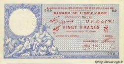 20 Francs avec décrets DJIBOUTI  1909 P.02s SPL