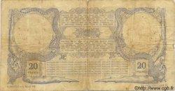 20 Francs sans décrets DJIBOUTI  1921 P.04B B+