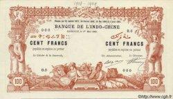 100 Francs avec décrets DJIBOUTI  1909 P.03s pr.NEUF