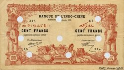 100 Francs sans décrets DJIBOUTI  1920 P.05 TB+