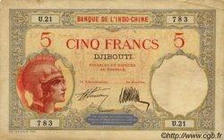 5 Francs Walhain DJIBOUTI  1927 P.06a TTB