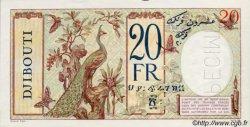 20 Francs au paon type II DJIBOUTI  1936 P.07As SPL
