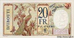 20 Francs au paon type II DJIBOUTI  1936 P.07A pr.NEUF