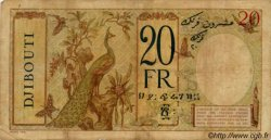 20 Francs au paon type II DJIBOUTI  1936 P.07A TB